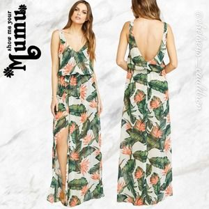 MuMu Bridal Kendall Maxi Dress Paradise Found NWT